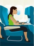 商务旅行 向量例证