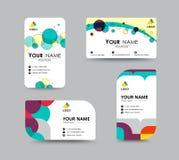 商务联系卡片模板设计 传染媒介股票 免版税库存图片
