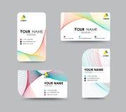 商务联系卡片模板设计 对比颜色设计 Ve 图库摄影