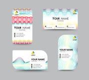 商务联系卡片模板设计 对比颜色设计 Ve 免版税库存照片