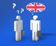 商务英语聊天 免版税库存照片