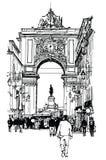 商务里斯本广场 向量例证