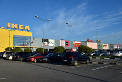 商城兆帕纳斯在圣彼德堡,俄罗斯 库存图片