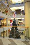 商城圣诞树 库存图片