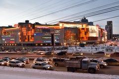 商城气氛在新西伯利亚,俄罗斯 免版税库存图片