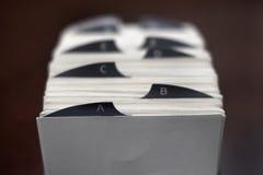 商学院家组织的索引卡片 免版税库存照片