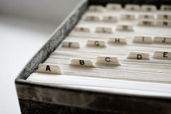 商学院家组织的索引卡片 免版税库存图片