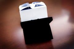 商学院家组织的索引卡片 库存照片
