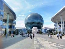 商展哈萨克斯坦首都阿斯塔纳 免版税图库摄影