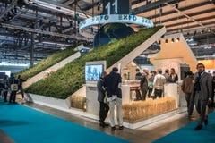 商展在位的米兰2015立场在米兰,意大利 免版税图库摄影