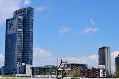 商展塔在米兰 图库摄影