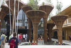 商展的越南亭子2015年 库存照片