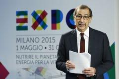 商展2015年温泉的朱塞佩Sala CEO 免版税图库摄影