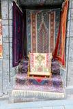 商店东方人地毯。 免版税库存图片