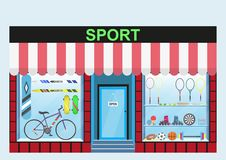 商店体育项目 皇族释放例证