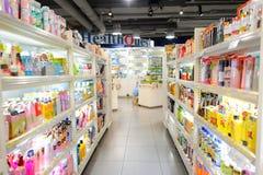 商店内部在新城市广场 图库摄影