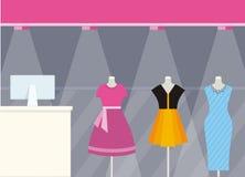 商店前面服装店设计平的样式 库存照片