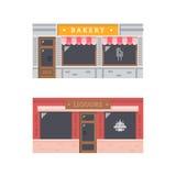 商店前面门面平的设计 皇族释放例证