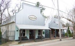 商店和企业在阿灵顿, TN 库存图片