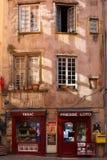 商店在利昂历史的区 免版税库存图片