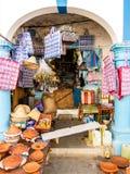 商店在拉腊什,摩洛哥 免版税库存照片
