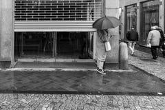 商店开头在街市马斯特里赫特 库存图片
