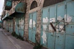商店由在明显赞成以色列国防军紧紧焊接了 免版税库存图片