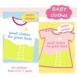 商店男孩和女孩的儿童的衣物 徽标 免版税库存照片