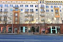 商店的看法Tverskaya购物街道的 库存照片