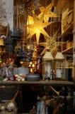 商店窗口圣诞节DECRATION 免版税库存照片