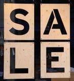 商店窗口折扣标志 图库摄影