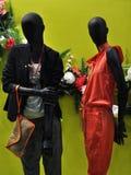 商店窗口时装模特 免版税库存照片