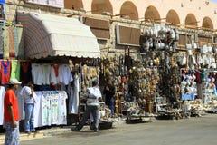 商店街道在埃及 免版税库存照片