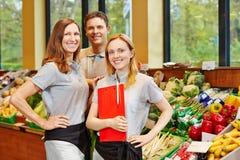 商店经理和推销员 免版税图库摄影