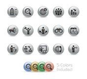 商机--金属圆的系列 免版税库存图片