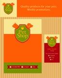 商标、象征商店猫的和狗 编辑可能 图库摄影