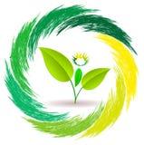 商标人植物 免版税库存图片