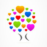 商标企业摘要树心脏象爱 免版税库存图片