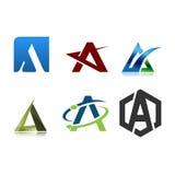 商标信件A设计模板 免版税图库摄影