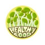 商标健康食物新芽 图库摄影