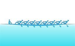 商标划船,体育的背景 库存图片
