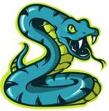 商标和吉祥人的蛇象 向量例证