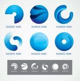 商标和标志设计圈子和O概念,现代最小 库存照片