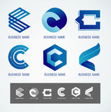 商标和标志设计C概念 库存图片