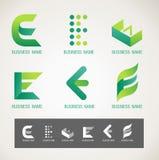 商标和标志设计E概念 免版税库存图片