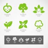 商标和标志设计eco概念 免版税库存照片