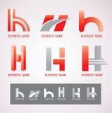 商标和标志设计H概念 库存照片