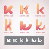 商标和标志设计K概念 免版税图库摄影