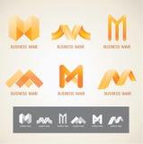 商标和标志设计M概念 库存照片