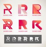 商标和标志设计R概念 免版税库存图片
